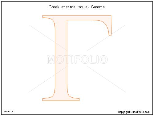 Greek Letter Majuscule Gamma Illustrations