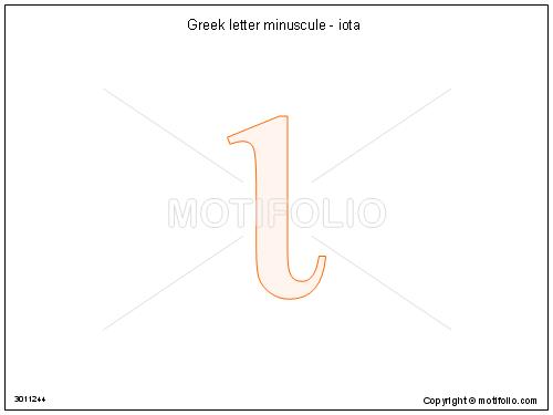 Greek Letter Minuscule Iota Illustrations
