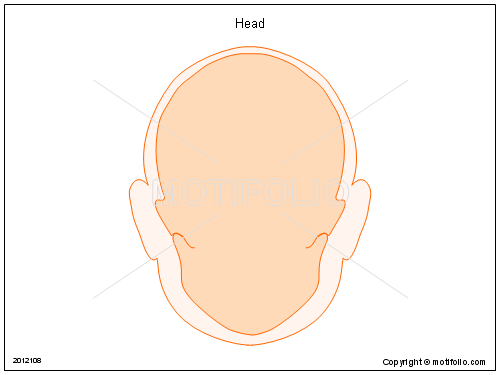 Head, PPT PowerPoint drawing diagrams, templates, images, slides
