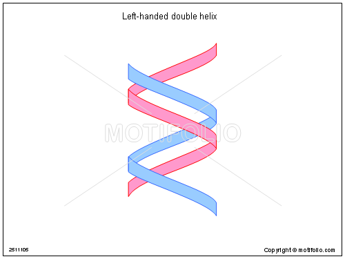 Left Handed Double Helix Illustrations