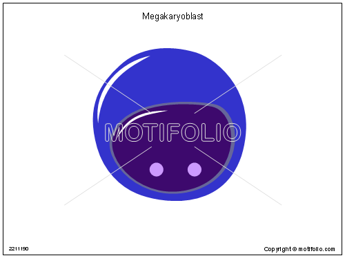 Megakaryoblast, PPT PowerPoint drawing diagrams, templates, images, slides