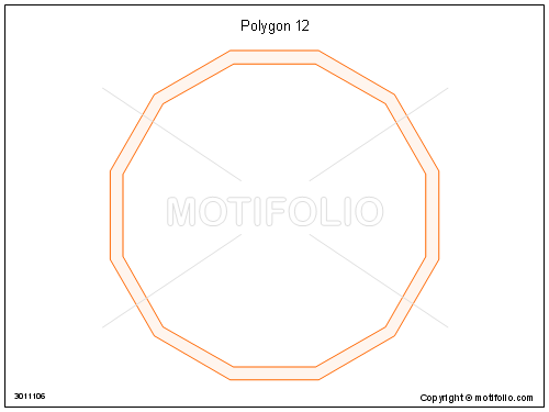 Polygon 12, PPT PowerPoint drawing diagrams, templates, images, slides