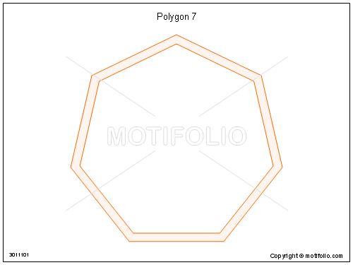 Polygon 7, PPT PowerPoint drawing diagrams, templates, images, slides