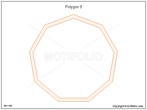 Polygon 9, PPT PowerPoint drawing diagrams, templates, images, slides