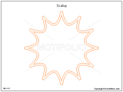 Scallop, PPT PowerPoint drawing diagrams, templates, images, slides