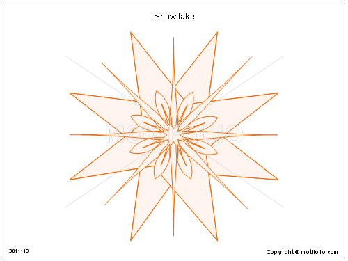 Snowflake, PPT PowerPoint drawing diagrams, templates, images, slides