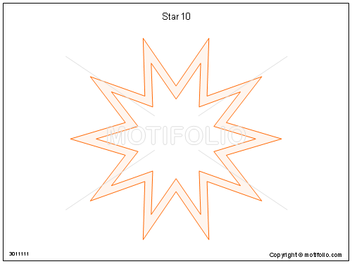 Star 10, PPT PowerPoint drawing diagrams, templates, images, slides