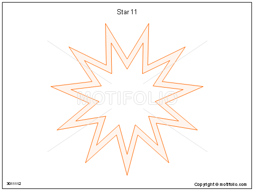 Star 11, PPT PowerPoint drawing diagrams, templates, images, slides