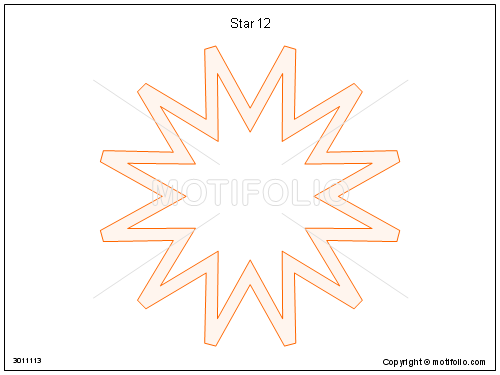 Star 12, PPT PowerPoint drawing diagrams, templates, images, slides