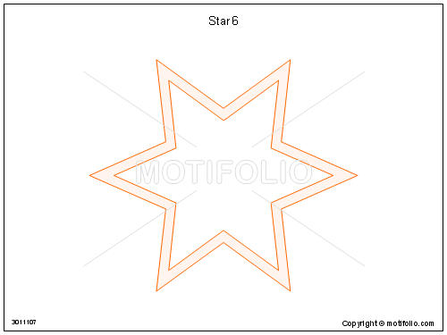 Star 6, PPT PowerPoint drawing diagrams, templates, images, slides