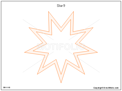 Star 9, PPT PowerPoint drawing diagrams, templates, images, slides